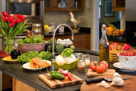 Kitchen With Food efficient fitness and health tips